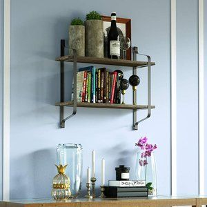 Wall Art - New Wall Mounted Industrial Wood Shelves